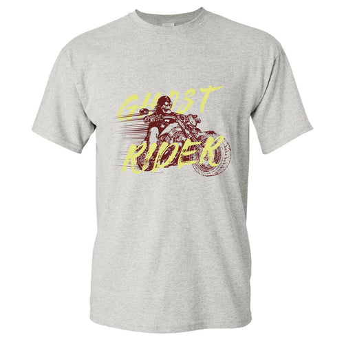 Nike Air Ghost Racer Neon Yellow Sneaker Match Ghost Rider Sport Grey T-Shirt