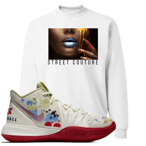 Bandulu x Nike Kyrie 5 Sneaker Match Street Couture White Sweater