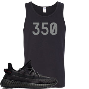 "Adidas Yeezy Boost 350 v2 Black Sneaker Hook Up ""350"" Black Mens Tank Top"