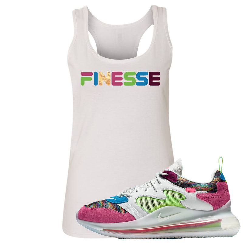 OBJ x Nike Air Max 720 Sneaker Hook Up Finesse White Womens Tank Top