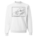 Nike Air Max 1 Sketch to Shelf White Sneaker Hook Up Blue Print White Sweater
