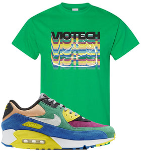 Nike Air Max 90 Viotech 2.0 Sneaker Hook Up Viotech Kelly Green T-Shirt