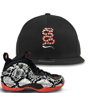 Foamposite One Snakeskin Sneaker Hook Up Coiled Snake Black Snapback