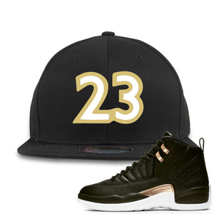 "Jordan 12 WMNS Reptile Sneaker Hook Up ""23"" Black Snapback"