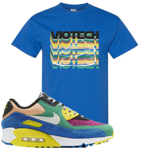 Nike Air Max 90 Viotech 2.0 Sneaker Hook Up Viotech Royal Blue T-Shirt