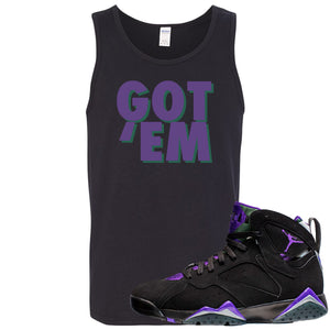 Air Jordan 7 Ray Allen Sneaker Hook Up Got Em Black Mens Tank Top