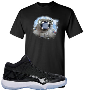 Air Jordan 11 Low IE Space Jam Sneaker Hook Up Astronaught Black T-Shirt