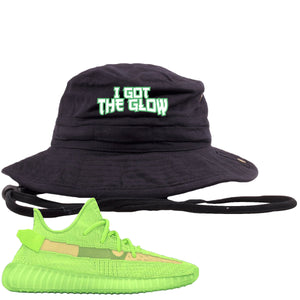 Yeezy Boost 350 V2 Glow Sneaker Hook Up I Got The Glow Black Bucket Hat
