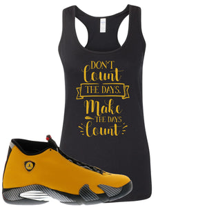 Reverse Ferrari 14s Sneaker Hook Up Don't Count The Days Black Womens Tank Top