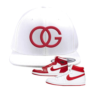 Jordan 1 New Beginnings Pack Sneaker White Snapback Hat | Hat to match Nike Air Jordan 1 New Beginnings Pack Shoes | OG