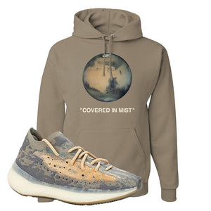 Yeezy Boost 380 Mist Sneaker Khaki Pullover Hoodie | Hoodie to match Adidas Yeezy Boost 380 Mist Shoes | Covered In Mist