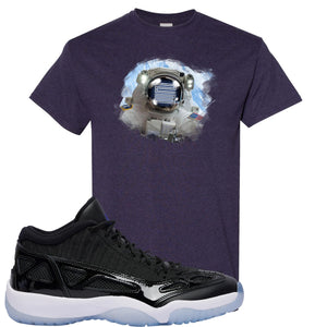 Air Jordan 11 Low IE Space Jam Sneaker Hook Up Astronaught Blackberry T-Shirt
