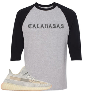 Adidas Yeezy Boost 350 v2 Lundmark Sneaker Hook Up Calabasa Sports Grey and Black Raglan T-Shirt
