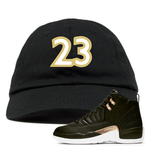 "Jordan 12 WMNS Reptile Sneaker Hook Up ""23"" Black Dad Hat"