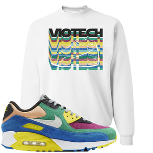 Nike Air Max 90 Viotech 2.0 Sneaker Hook Up Viotech White Sweater