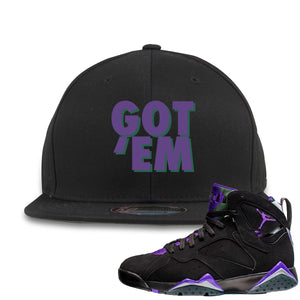 Air Jordan 7 Ray Allen Sneaker Hook Up Got Em Black Snapback