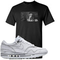 Nike Air Max 1 Sketch to Shelf White Sneaker Hook Up Tinker Thinker Black T-Shirt
