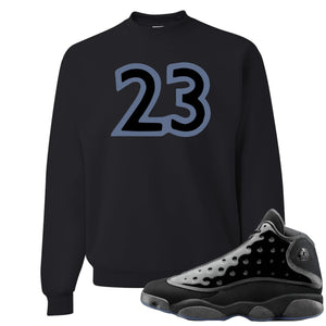 Air Jordan 13 Cap and Gown Sneaker Hook Up 23 Black Sweater