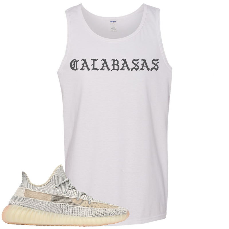Adidas Yeezy Boost 350 v2 Lundmark Sneaker Hook Up Calabasa White Mens Tank Top