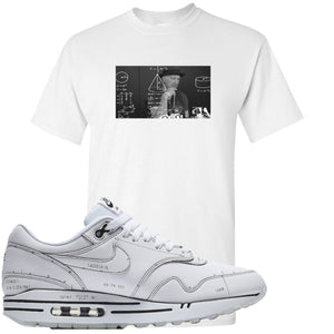 Nike Air Max 1 Sketch to Shelf White Sneaker Hook Up Tinker Thinker White T-Shirt