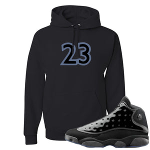 Air Jordan 13 Cap and Gown Sneaker Hook Up 23 Black Hoodie