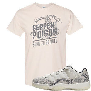 Air Jordan 11 Low Snakeskin Light Bone Sneaker Hook Up Serpent Poison Snake Natural T-Shirt