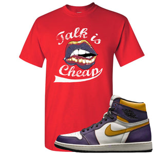 Nike SB x Air Jordan 1 OG Court Purple Sneaker Hook Up Talk is Cheap Red T-Shirt