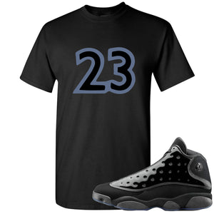 Air Jordan 13 Cap and Gown Sneaker Hook Up 23 Black T-Shirt