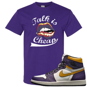 Nike SB x Air Jordan 1 OG Court Purple Sneaker Hook Up Talk is Cheap Purple T-Shirt