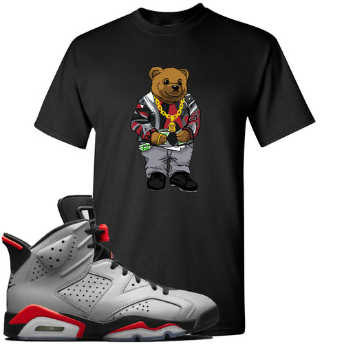 Air Jordan 6 Reflections of a Champion Sneaker Match Biggie Bear Black T-Shirt