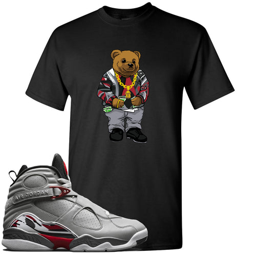 Air Jordan 8 Reflections of a Champion Sneaker Match Biggie Bear Black T-Shirt