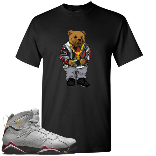Air Jordan 7 Reflections of a Champion Sneaker Match Biggie Bear Black T-Shirt
