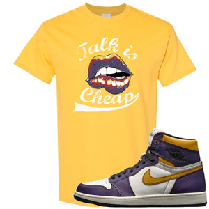 Nike SB x Air Jordan 1 OG Court Purple Sneaker Hook Up Talk is Cheap Yellow T-Shirt