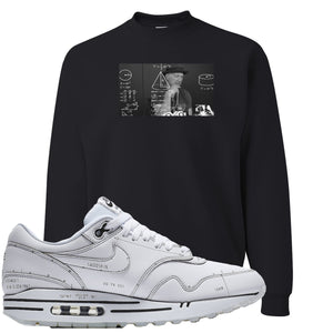 Nike Air Max 1 Sketch to Shelf White Sneaker Hook Up Tinker Thinker Black Sweater