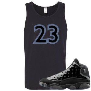 Air Jordan 13 Cap and Gown Sneaker Hook Up 23 Black Mens Tank Top