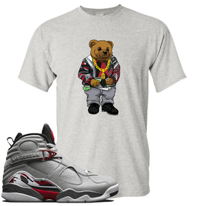 Air Jordan 8 Reflections of a Champion Sneaker Hook Up Sweater Bear Sports Gray T-Shirt