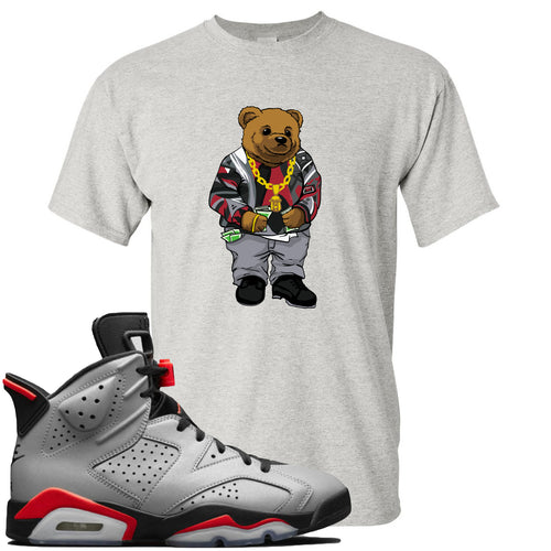 Air Jordan 6 Reflections of a Champion Sneaker Match Biggie Bear Sports Gray T-Shirt