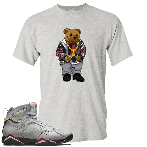 Air Jordan 7 Reflections of a Champion Sneaker Match Biggie Bear Sports Gray T-Shirt