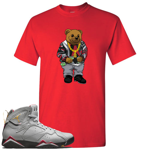 Air Jordan 7 Reflections of a Champion Sneaker Match Biggie Bear Red T-Shirt