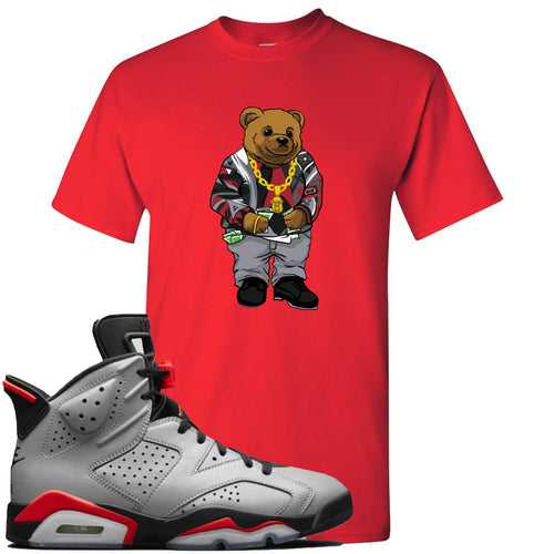 Air Jordan 6 Reflections of a Champion Sneaker Match Biggie Bear Red T-Shirt