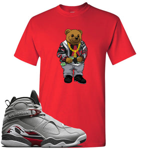 Air Jordan 8 Reflections of a Champion Sneaker Hook Up Sweater Bear Red T-Shirt