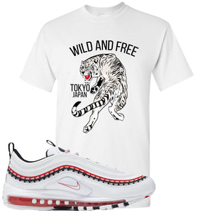 Nike Air Max 97 White University Red Sneaker Hook Up Tiger White T-Shirt