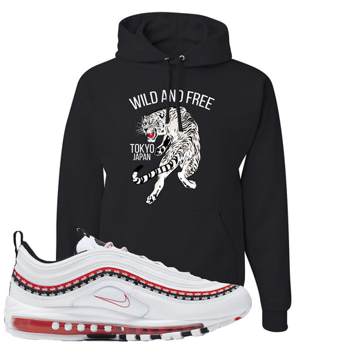 Nike Air Max 97 White University Red Sneaker Match Bathtub Scarface Black Hoodie