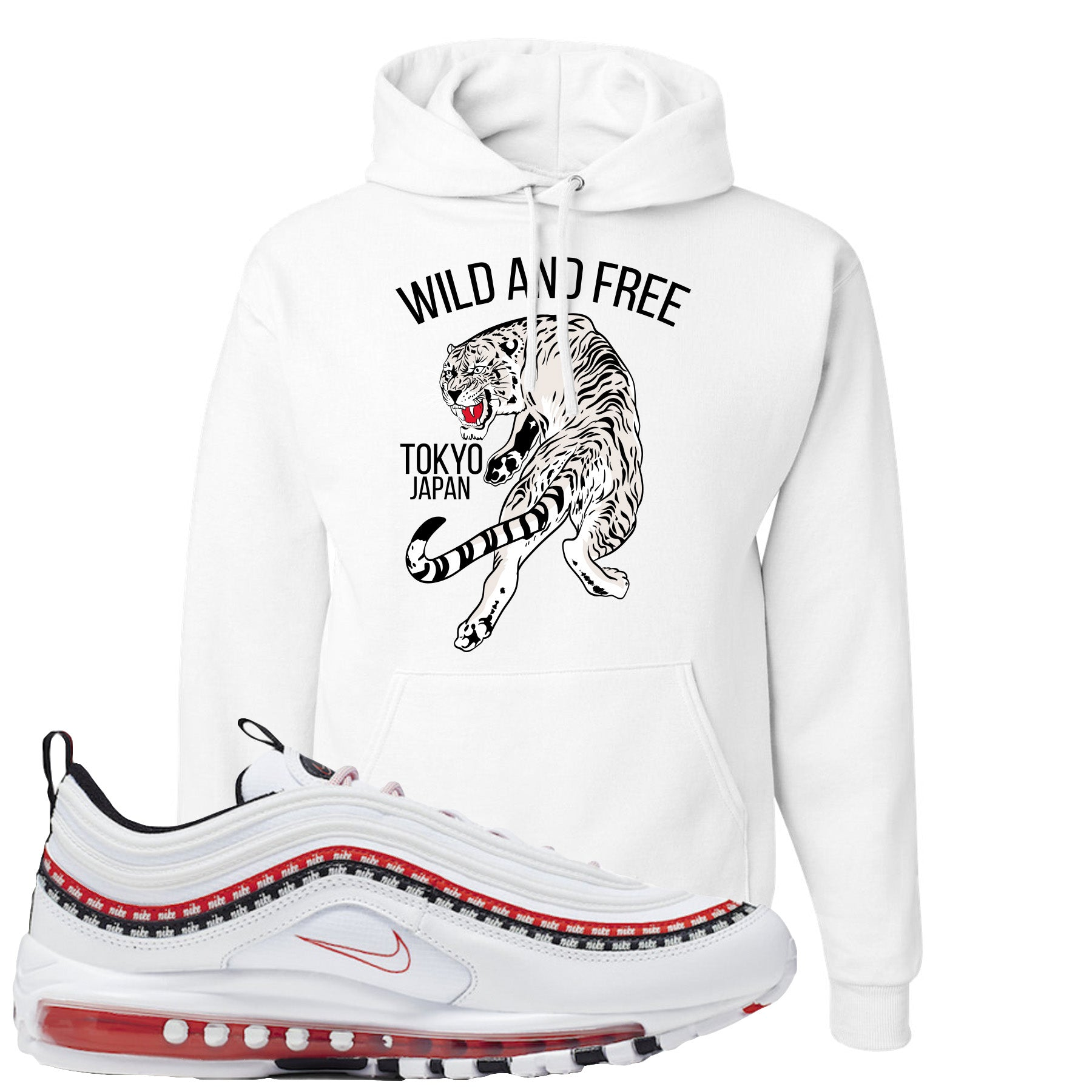 Nike Air Max 97 White University Red Sneaker Hook Up Tiger White