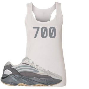 "Adidas Yeezy Boost 700 V2 Tephra Sneaker Hook Up ""700"" White Womens Tank Top"