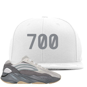 "Adidas Yeezy Boost 700 V2 Tephra Sneaker Hook Up ""700"" White Snapback"