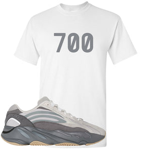 "Adidas Yeezy Boost 700 V2 Tephra Sneaker Hook Up ""700"" White T-Shirt"