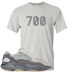 "Adidas Yeezy Boost 700 V2 Tephra Sneaker Hook Up ""700"" Sport Gray T-Shirt"