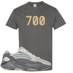 "Adidas Yeezy Boost 700 V2 Tephra Sneaker Hook Up ""700"" Dark Gray T-Shirt"