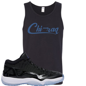 Air Jordan 11 Low IE Space Jam Sneaker Hook Up Chi-raq Black Mens Tank Top